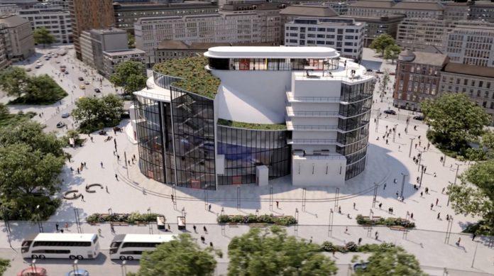 Entwurf von Bauhaus-Gründer Walter Gropius von 1927 erstmals umgesetzt: Düsseldorfer THEATER DER KLÄNGE erschafft virtuelles Totaltheater. Foto: THEATER DER KLÄNGE