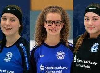 Als Nationalspielerinnen nominiert sind Annika Zech, Leonie Stucke und Annabell Pillenkamp (v.l.) von der IGR Remscheid. Bildrechte: IGR Remscheid