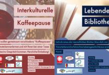 Interkulturelle Kaffeepause und Lebendige Bibliothek zum Auftakt der Interkulturellen Woche in Remscheid. Artwork: Caritasverband Remscheid