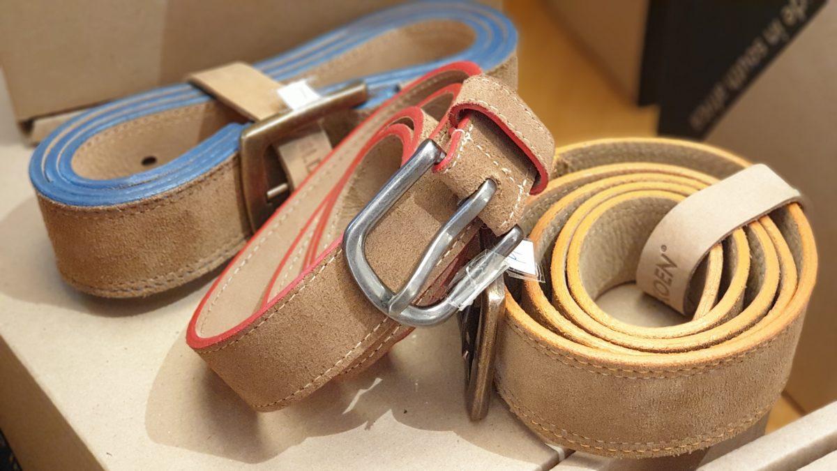 Die Ledergürtel mit dem Farbakzent gibt es in S, M und L für je 42,90 Euro. Foto: Sascha von Gerishem