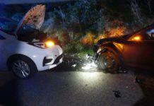 Unfall auf der L81: Frontalzusammenstoß. Foto: Polizei Oberberg